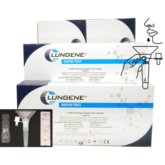20 db Clungene COVID-19 Gyorsteszt (Antigén) Nyálmintából