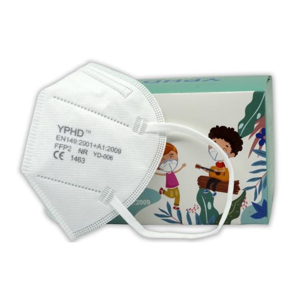 YiDao Gyerek FFP2-es maszk doboza és a termék