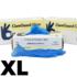Kép 1/7 - 100 db CureGuard púdermentes, kék színű Vinyl kesztyű XL méret